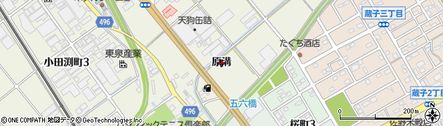 愛知県豊川市白鳥町(原溝)周辺の地図