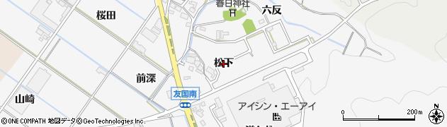 愛知県西尾市吉良町友国(松下)周辺の地図