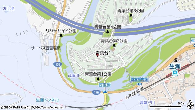 〒669-1122 兵庫県西宮市青葉台の地図