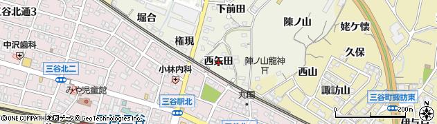 愛知県蒲郡市豊岡町(西矢田)周辺の地図