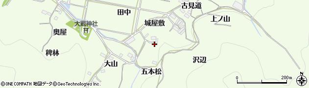 愛知県豊橋市石巻中山町(五本松)周辺の地図