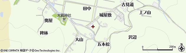 愛知県豊橋市石巻中山町(八津田)周辺の地図