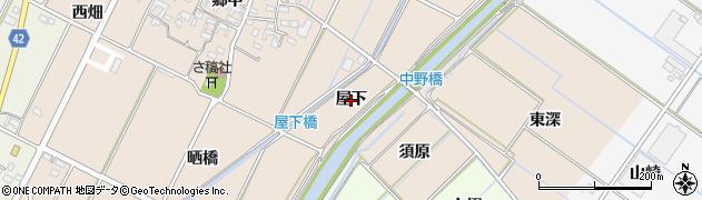 愛知県西尾市吉良町中野(屋下)周辺の地図