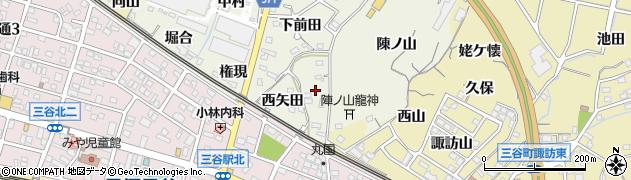 愛知県蒲郡市豊岡町(東矢田)周辺の地図
