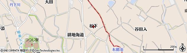 愛知県蒲郡市大塚町(松下)周辺の地図
