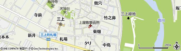 愛知県豊川市三上町周辺の地図