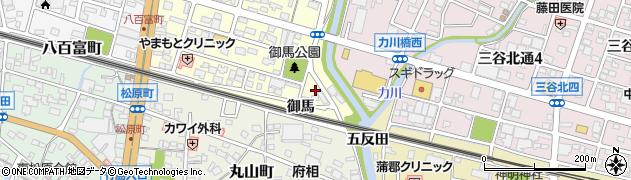 愛知県蒲郡市府相町(御馬)周辺の地図