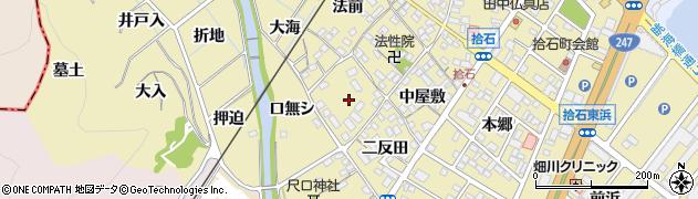 愛知県蒲郡市拾石町周辺の地図