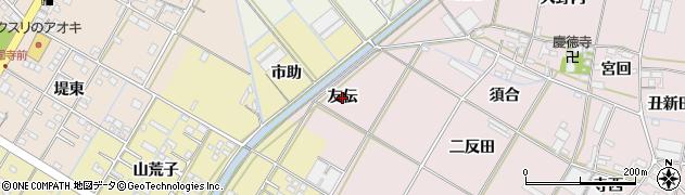 愛知県西尾市一色町池田(友伝)周辺の地図