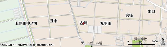 愛知県西尾市一色町治明(古畔)周辺の地図