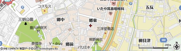 愛知県豊川市馬場町(郷東)周辺の地図
