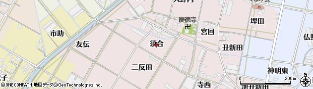 愛知県西尾市一色町池田(須合)周辺の地図