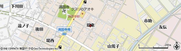 愛知県西尾市一色町味浜(堤東)周辺の地図
