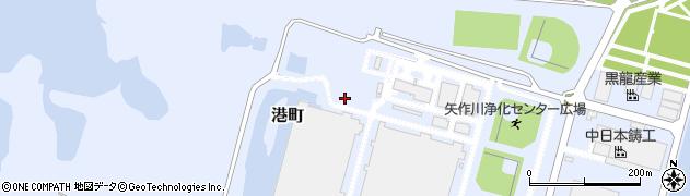 愛知県西尾市港町周辺の地図