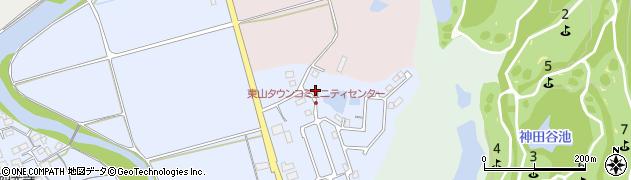 三重県伊賀市川合(東山タウン)周辺の地図