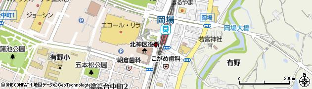 岡場駅南周辺の地図