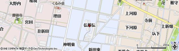 愛知県西尾市平口町(仏照伝)周辺の地図