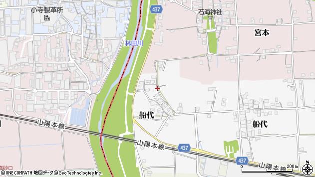 〒671-1554 兵庫県揖保郡太子町船代の地図