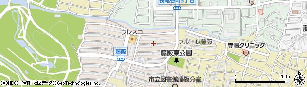 藤阪ハイツ周辺の地図