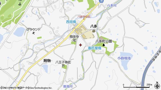 〒651-1343 兵庫県神戸市北区八多町附物の地図