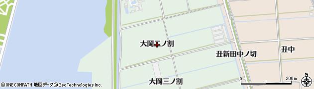 愛知県西尾市一色町細川(大岡二ノ割)周辺の地図