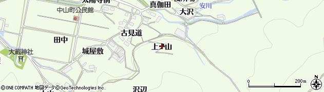 愛知県豊橋市石巻中山町(上ノ山)周辺の地図