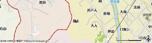 愛知県蒲郡市拾石町(墓土)周辺の地図