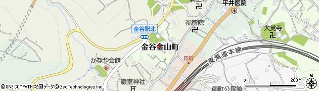 静岡県島田市金谷金山町周辺の地図