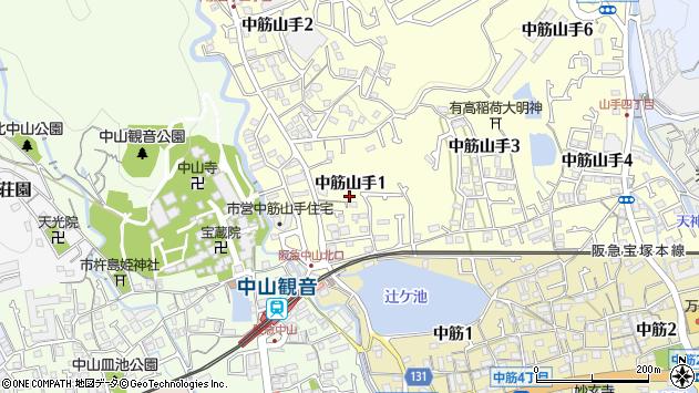 〒665-0875 兵庫県宝塚市中筋山手の地図