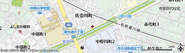 愛知県豊川市佐奈川町周辺の地図