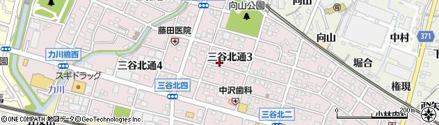 愛知県蒲郡市三谷北通周辺の地図