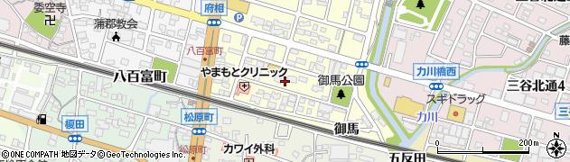 愛知県蒲郡市府相町(端廻)周辺の地図