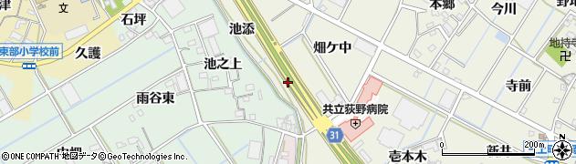 愛知県豊川市三上町(池添)周辺の地図