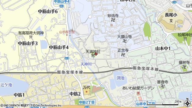 〒665-0884 兵庫県宝塚市山本西の地図
