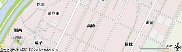 愛知県西尾市吉良町下横須賀(高徳)周辺の地図