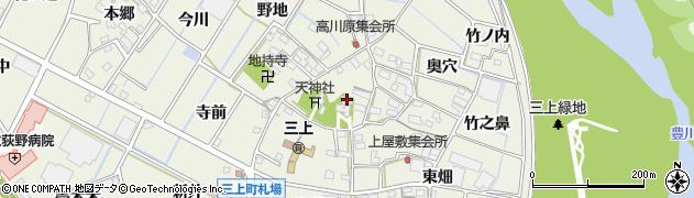 愛知県豊川市三上町(西高川原)周辺の地図