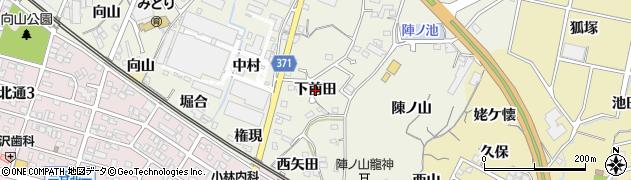 愛知県蒲郡市豊岡町(下前田)周辺の地図