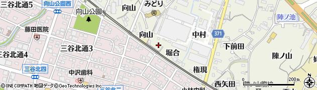 愛知県蒲郡市豊岡町(新田)周辺の地図