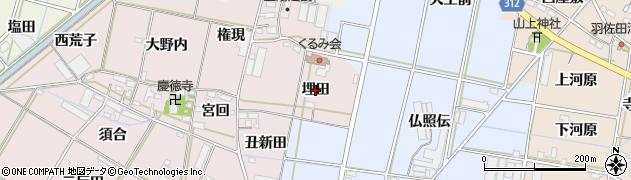 愛知県西尾市一色町池田(埋田)周辺の地図