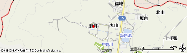 愛知県蒲郡市一色町(野畔)周辺の地図