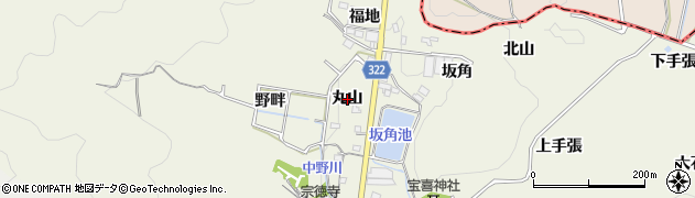 愛知県蒲郡市一色町(丸山)周辺の地図