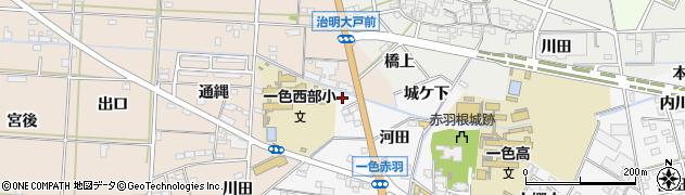 愛知県西尾市一色町赤羽(大戸前川向)周辺の地図