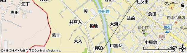 愛知県蒲郡市拾石町(折地)周辺の地図
