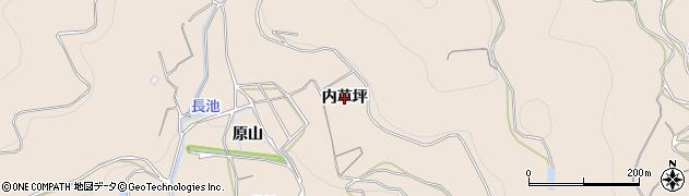 愛知県蒲郡市大塚町(内草坪)周辺の地図