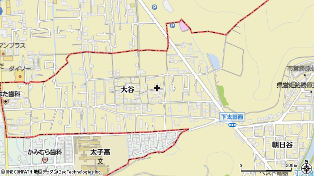 〒671-1205 兵庫県姫路市勝原区大谷の地図