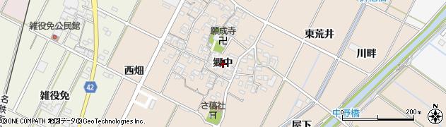 愛知県西尾市吉良町中野(郷中)周辺の地図