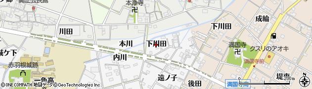 愛知県西尾市一色町赤羽(下川田)周辺の地図