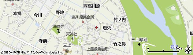 愛知県豊川市三上町(東高川原)周辺の地図