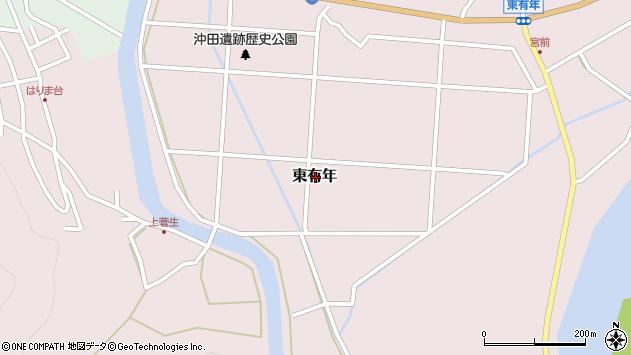 〒678-1185 兵庫県赤穂市東有年の地図