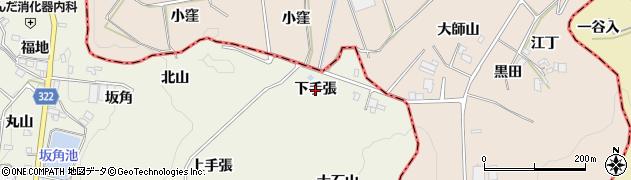 愛知県蒲郡市一色町(下手張)周辺の地図